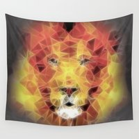 lion king Wall Tapestries featuring lion king by Ancello