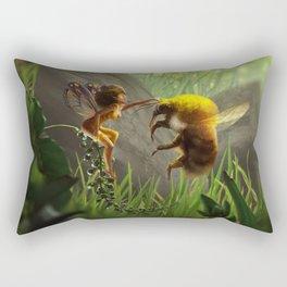 Faerie and Bee Rectangular Pillow