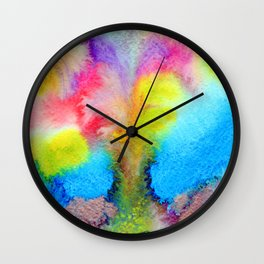 Surreal Volcano That Erupts Colored Lava Wall Clock