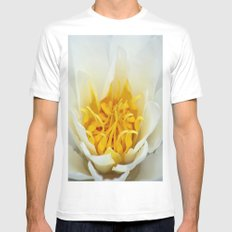 Lotus Heart Mens Fitted Tee White MEDIUM