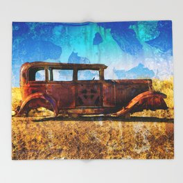 Rusting in Splendour Throw Blanket