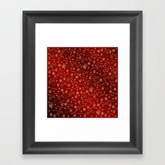 grandma Golden merry christmas font with stars, ornaments elegant festive gold hearts in red Framed Art Print