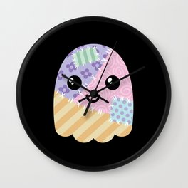 Patchwork ghost Wall Clock