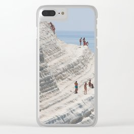 Rocky cliff Scala dei Turchi, Sicily, Italy Clear iPhone Case