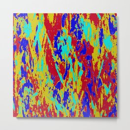 Multicolored Vibrant Abstract Textre Print Metal Print