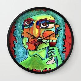 Wine Snob Wall Clock