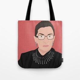 Ruth Bader Ginsburg   Bad Ass Women Series Tote Bag