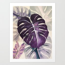 Purple leaf Art Print