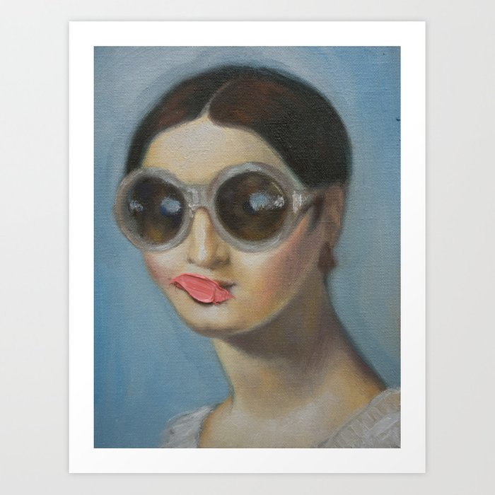 Discover the motif MADEMOISELLE RIVIERE by Alexander Grahovsky as a print at TOPPOSTER