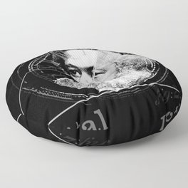 The Time of Marx Dark Floor Pillow