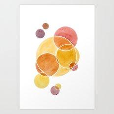 Blush Circles Geometric Art Print