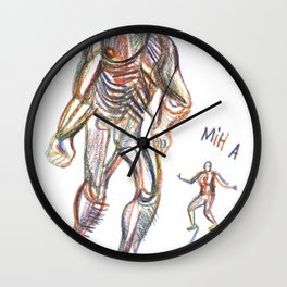 at my misanthropic best Wall Clock