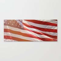 american flag Canvas Prints featuring American Flag by Ken Gehring