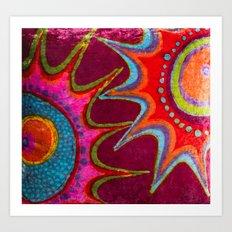 velvet batik Art Print