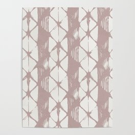 Simply Braided Chevron Clay Pink on Lunar Gray Poster