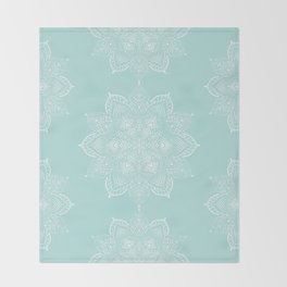 Winter Spirit Mint Throw Blanket