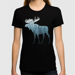 Misty Forest Moose T-shirt