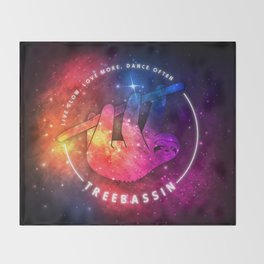 Treebassin – Sloth Throw Blanket
