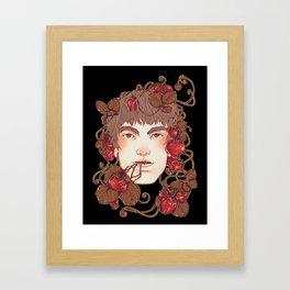 Strawberry Boy Framed Art Print