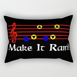 Make It Rain! - Song Of Storms (The Legend Of Zelda: Ocarina Of Time) Rectangular Pillow