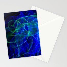Abstract smoke of colors. Pattern of soft waveforms. Stationery Cards
