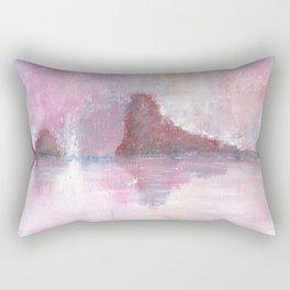 Abstract Red Landscape Rectangular Pillow