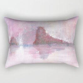 Abstract Red Landscape Rectangular Pillow