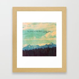 The Poetry of the Earth Framed Art Print