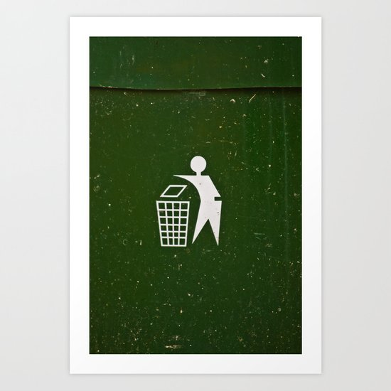 Trash - Put here please! Art Print