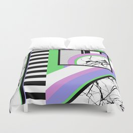 AMPS Deux - Abstract, Marble, Pastel, Stripes Duvet Cover