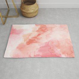 Warm pink waters Rug