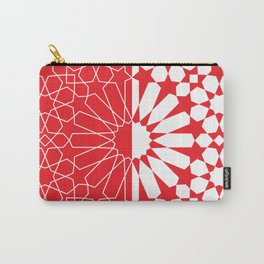 Moroccan Pattern 3 Red/White Carry-All Pouch