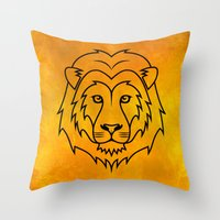 courage Throw Pillows featuring Courage by Alex Ink