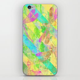 A Dragonflies and Stripes Y iPhone Skin