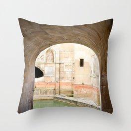 View into Roman Baths Throw Pillow