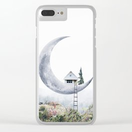 Moon House Clear iPhone Case