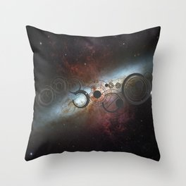 Doctor Who Allons-y Gallifrey  with the Starburst Galaxy M82 Throw Pillow