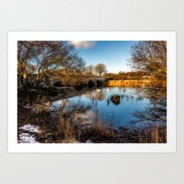 Pont Pen y Llyn Bridge Art Print