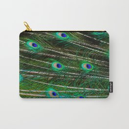 Peacock Feathered Carry-All Pouch