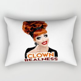 """Clown Realness"" Bianca Del Rio, RuPaul's Drag Race Queen Rectangular Pillow"