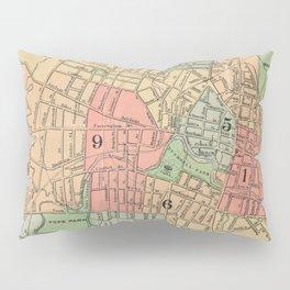 Vintage Map of Hartford Connecticut (1903) Pillow Sham