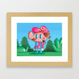 Nario Bross Framed Art Print