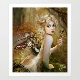 Touch of Gold - Fairy Art Print