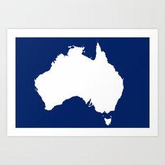 AUSTRALIA OCEAN Art Print