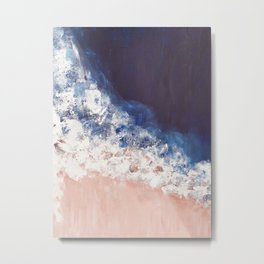 Abstract paintings ocean, pink navy, ink blue Metal Print