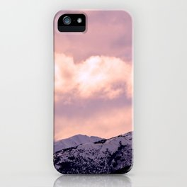 Kenai Mts Bathed in Serenity Rose iPhone Case