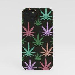 Marijuana Muted Colors iPhone Case
