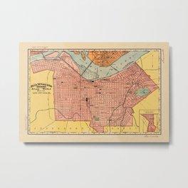 Map Of Louisville 1892 Metal Print