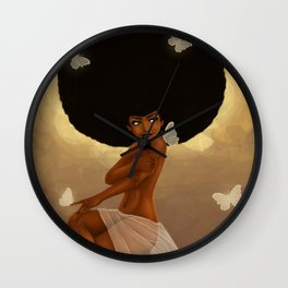 Fro and Butterflies Wall Clock