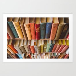 The Colorful Library Art Print